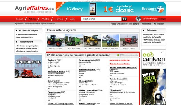 Agriaffaires Website